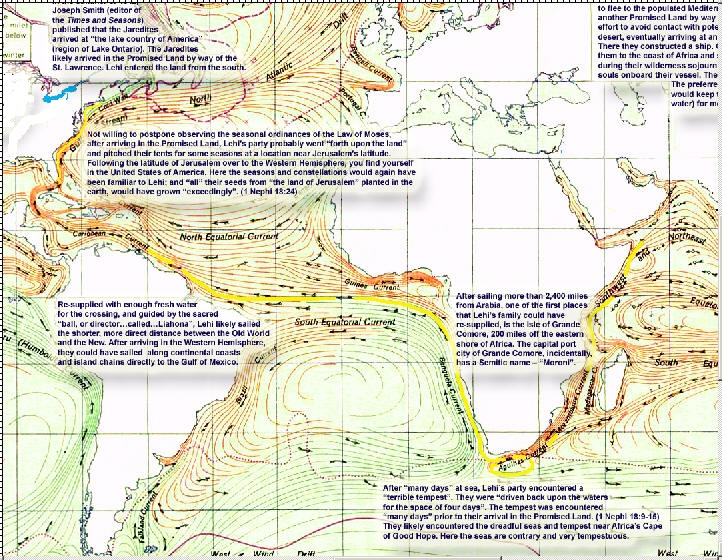 Lehi's Divinely Guided Voyage to America