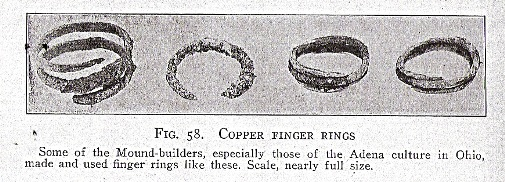 Mound Builder Copper Rings
